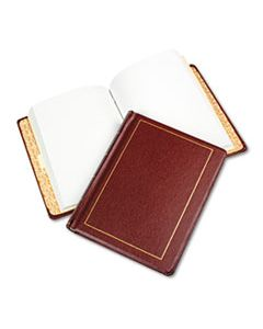 WLJ039611 LOOSELEAF MINUTE BOOK, RED LEATHER-LIKE COVER, 250 UNRULED PAGES, 8 1/2 X 11