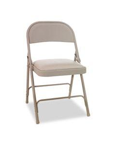 ALEFCPC5T STEEL FOLDING CHAIR, TAN SEAT/TAN BACK, TAN BASE, 4/CARTON