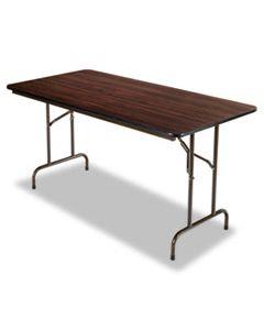 ALEFT726030MY WOOD FOLDING TABLE, RECTANGULAR, 59 7/8W X 29 7/8D X 29 1/8H, MAHOGANY