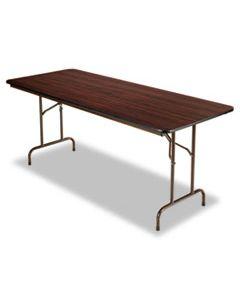 ALEFT727230MY WOOD FOLDING TABLE, RECTANGULAR, 71 7/8W X 29 7/8D X 29 1/8H, MAHOGANY