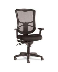 ALEEL41ME10B ALERA ELUSION SERIES MESH HIGH-BACK MULTIFUNCTION CHAIR, SUPPORTS UP TO 275 LBS., BLACK SEAT/BLACK BACK, BLACK BASE