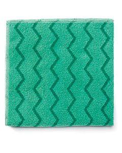 RCPQ620 REUSABLE CLEANING CLOTHS, MICROFIBER, 16 X 16, GREEN, 12/CARTON