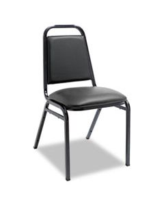 ALESC68VY10B PADDED STEEL STACKING CHAIR, BLACK SEAT/BLACK BACK, BLACK BASE, 4/CARTON