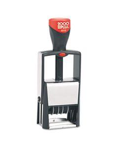 COS011200 SELF-INKING HEAVY-DUTY LINE DATER W/MICROBAN, 1 1/4 X 5/8, BLACK