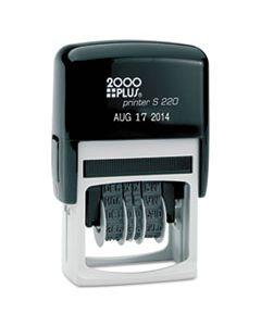 COS010129 ECONOMY DATER, SELF-INKING, BLACK