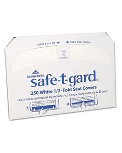 GPC47046 HALF-FOLD TOILET SEAT COVERS, WHITE, 250/PACK, 20 BOXES/CARTON