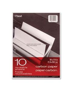 MEA40114 CARBON PAPER, 1-PART, 8.5 X 11, BLACK CARBON, 10/PACK