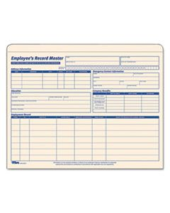 TOP32801 EMPLOYEE RECORD MASTER FILE JACKET, STRAIGHT TAB, LETTER SIZE, MANILA, 15/PACK