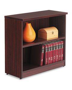 ALEVA633032MY ALERA VALENCIA SERIES BOOKCASE, TWO-SHELF, 31 3/4W X 14D X 29 1/2H, MAHOGANY