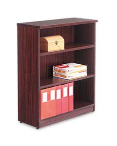 ALEVA634432MY ALERA VALENCIA SERIES BOOKCASE, THREE-SHELF, 31 3/4W X 14D X 39 3/8H, MAHOGANY