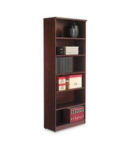 ALEVA638232MY ALERA VALENCIA SERIES BOOKCASE, SIX-SHELF, 31 3/4W X 14D X 80 1/4H, MAHOGANY