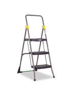 CSC11839GGO COMMERCIAL 3-STEP FOLDING STOOL, 300 LB CAPACITY, 20.5W X 32.63D X 52.13H, GRAY