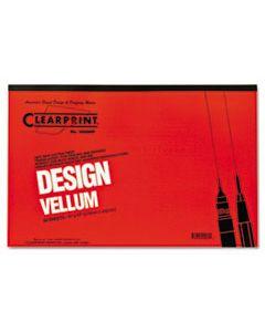 CLE10001416 DESIGN VELLUM PAPER, 16LB, 11 X 17, TRANSLUCENT WHITE, 50/PAD