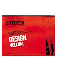 CLE10001422 DESIGN VELLUM PAPER, 16LB, 18 X 24, TRANSLUCENT WHITE, 50/PAD