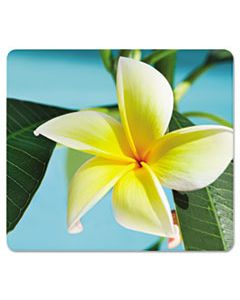 FEL5913801 RECYCLED MOUSE PAD, NONSKID BASE, 7 1/2 X 9, YELLOW FLOWERS