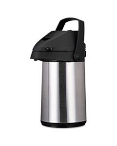 OGFCPAP22 DIRECT BREW/SERVE INSULATED AIRPOT WITH CARRY HANDLE, 2200ML, STAINLESS STEEL