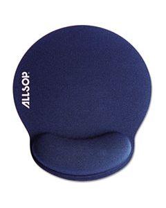 ASP30206 MOUSEPAD PRO MEMORY FOAM MOUSE PAD WITH WRIST REST, 9 X 10 X 1, BLUE