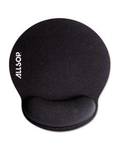 ASP30203 MOUSEPAD PRO MEMORY FOAM MOUSE PAD WITH WRIST REST, 9 X 10 X 1, BLACK