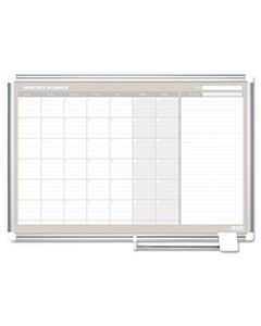 BVCGA0597830 MONTHLY PLANNER, 48X36, SILVER FRAME