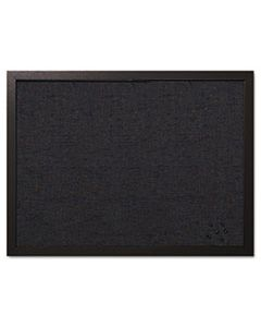 BVCFB0471168 DESIGNER FABRIC BULLETIN BOARD, 24 X 18, BLACK FABRIC/BLACK FRAME