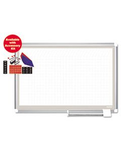 BVCGA03107830A ALL PURPOSE MAGNETIC PLANNING BOARD, 1 SQ/IN GRID, 36 X 24, ALUMINUM FRAME
