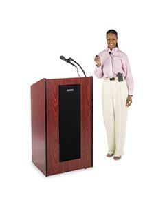 APLSW450MH PRESIDENTIAL PLUS WIRELESS LECTERN, 25.5W X 20.5D X 46.5H, MAHOGANY