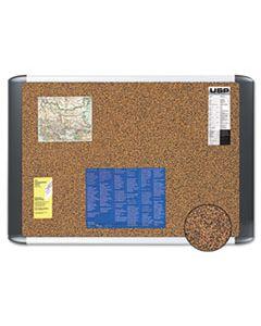BVCMVI050501 TECH CORK BOARD, 36X48, SILVER/BLACK FRAME
