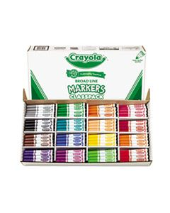 CYO588201 NON-WASHABLE MARKER, BROAD BULLET TIP, ASSORTED COLORS, 256/BOX