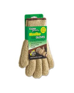 MAS18040 CLEANGREEN MICROFIBER CLEANING AND DUSTING GLOVES, PAIR