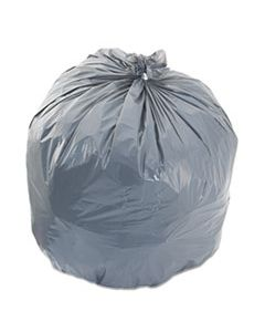 """BWK4046SH LOW-DENSITY WASTE CAN LINERS, 45 GAL, 0.95 MIL, 40"""" X 46"""", GRAY, 100/CARTON"""
