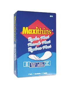 HOSMT4FS MAXITHINS VENDED SANITARY NAPKINS, 100/CARTON