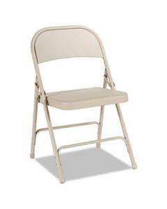 ALEFCMT4T STEEL FOLDING CHAIR, TAN SEAT/TAN BACK, TAN BASE, 4/CARTON
