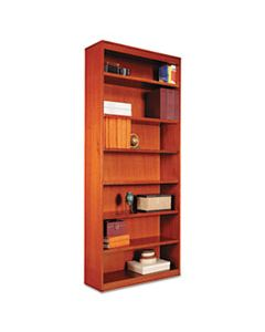 "ALEBCS78436MC SQUARE CORNER WOOD BOOKCASE, SEVEN-SHELF, 35.63""W X 11.81""D X 83.86""H, MEDIUM CHERRY"