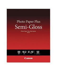 CNM1686B062 PHOTO PAPER PLUS SEMI-GLOSS, 8 X 10, SEMI-GLOSS WHITE, 50/PACK