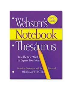 MERFSP0573 NOTEBOOK THESAURUS, THREE-HOLE PUNCHED, PAPERBACK, 80 PAGES
