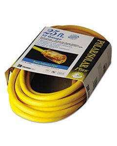 COC01687 POLAR/SOLAR INDOOR-OUTDOOR EXTENSION CORD WITH LIGHTED END, 25FT, YELLOW