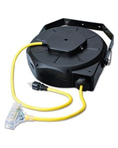 COC04820 RETRACTABLE INDUSTRIAL EXTENSION CORD REEL, 50FT, YELLOW/BLACK