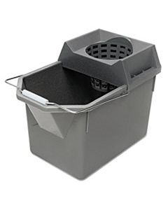 RCP6194STL PAIL/STRAINER COMBINATION, 15QT, STEEL GRAY
