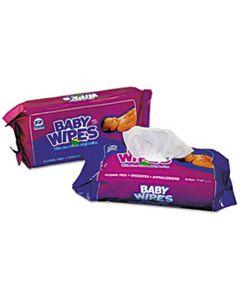 RPPRPBWUR80 BABY WIPES REFILL PACK, WHITE, 80/PACK, 12 PACKS/CARTON