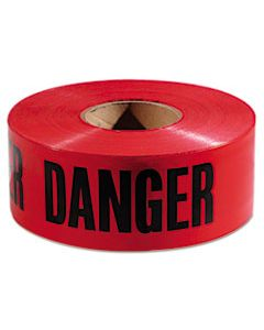 "EML771004 DANGER BARRICADE TAPE, ""DANGER"" TEXT, 3"" X 1000FT, RED/BLACK"