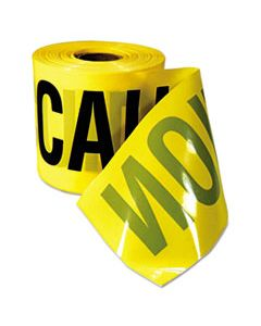 "EML770201 CAUTION BARRICADE TAPE, ""CAUTION CUIDADO"" TEXT, 3""X200FT, YELLOW W/BLACK PRINT"