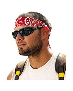 EGO12305 CHILL-ITS 6700/6705 BANDANA/HEADBAND, ONE SIZE FITS ALL, RED WESTERN