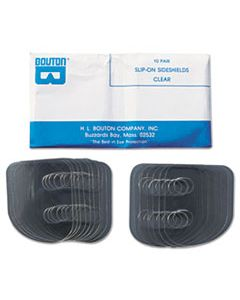 BOU99700 SLIP-ON SIDESHIELDS, PLASTIC, CLEAR, 10 PAIRS/BOX