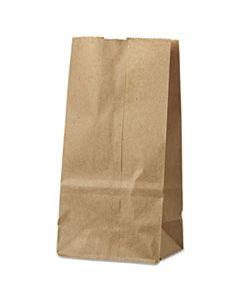 "BAGGK2500 GROCERY PAPER BAGS, 30 LBS CAPACITY, #2, 4.31""W X 2.44""D X 7.88""H, KRAFT, 500 BAGS"