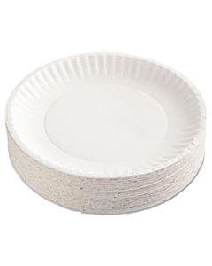 "AJMPP9GRAWH PAPER PLATES, 9"" DIAMETER, WHITE, 100/PACK, 12 PACKS/CARTON"