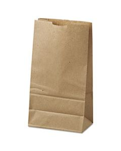 "BAGGK6500 GROCERY PAPER BAGS, 35 LBS CAPACITY, #6, 6""W X 3.63""D X 11.06""H, KRAFT, 500 BAGS"