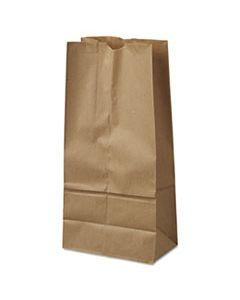 "BAGGK16500 GROCERY PAPER BAGS, 40 LBS CAPACITY, #16, 7.75""W X 4.81""D X 16""H, KRAFT, 500 BAGS"