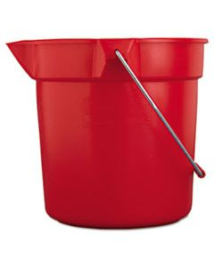 RCP2963RED BRUTE ROUND UTILITY PAIL, 10QT, RED