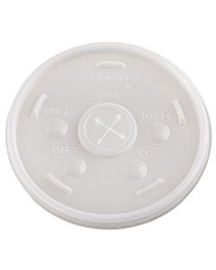 DCC24SL05 PLASTIC COLD CUP LIDS, 24OZ, TRANSLUCENT, 500/CARTON