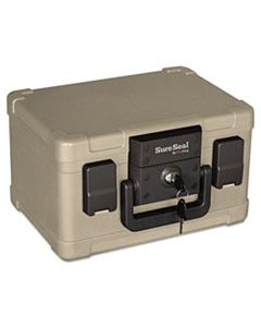 FIRSS102 FIRE AND WATERPROOF CHEST, 0.15 CU FT, 12.2W X 9.8D X 7.3H, TAUPE